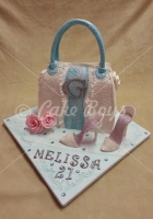 21st cakes - handbag-and-shoe-cake