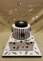 21st cakes - musical-cake
