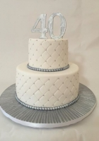 Silver and white birthday cake by Cake Boys in Alberton Johannesburg 1
