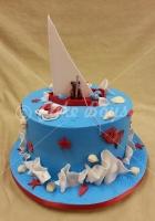 teddy-boat-cake