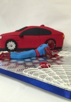 Spidey and his new car cake by Cake Boys in Alberton Johannesburg 6
