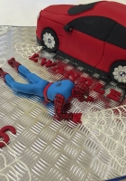Spidey and his new car cake by Cake Boys in Alberton Johannesburg 3