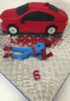 Spidey and his new car cake by Cake Boys in Alberton Johannesburg 5