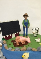 farm cake with animals by Cake Boys in Alberton Johannesburg 3