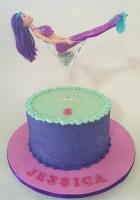 Martini mermaid cake for 6 year old girl by Cake Boys in Alberton Johannesburg 1
