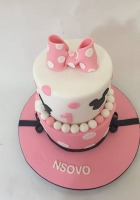 Minnies bow cake for a 1 year old girl by Cake Boys in Alberton Johannesburg 2