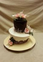 2-tier-topsy-turvy-cake