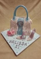 21st cakes - handbag-and-shoe-cake