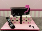 21st cakes - shoe-box-cake