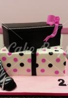 21st cakes - shoe-box-cake