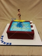 21st cakes - swiming-pool-cake