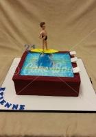 21st cakes - swiming-pool-cake