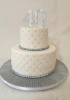 Silver and white birthday cake by Cake Boys in Alberton Johannesburg 1