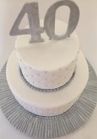 Silver and white birthday cake by Cake Boys in Alberton Johannesburg 2