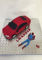 Spidey and his new car cake by Cake Boys in Alberton Johannesburg 1