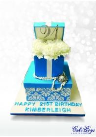 21st box cake